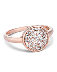 Simply Silver Rose Gold Crystal Ring