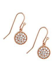Simply Silver Rose Gold Drop Earring