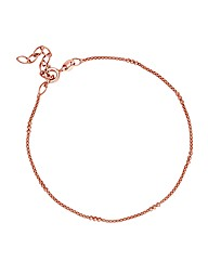 Simply Silver Rose Gold Mesh Bracelet