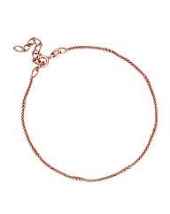Simply Silver Rose Gold Mesh Bracelet