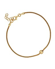 Simply Silver Gold Ball Bracelet
