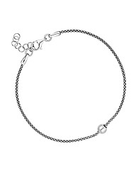 Simply Silver Polished Ball Bracelet