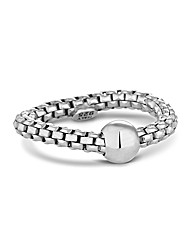 Simply Silver Mesh Ball Stretch Ring
