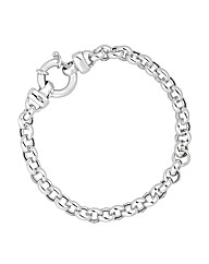 Simply Silver Round Link Chain Bracelet