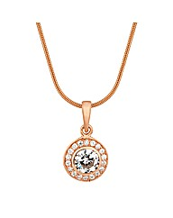 Simply Silver Rose Gold Drop Necklace
