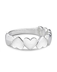 Simply Silver Polished Heart Band Ring
