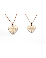 Rose Gold Plated Cherub Heart Pendant