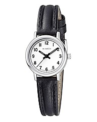 M-Watch Black & White Ladies Strap Watch
