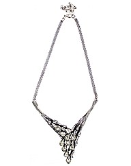 Glass V Shaped Necklace