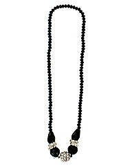 Facet Bead Diamante Necklace