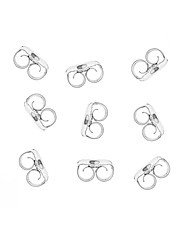 Sterling Silver 12 pairs earring backs