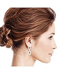 Jon Richard Diamante Gold Twist Earring