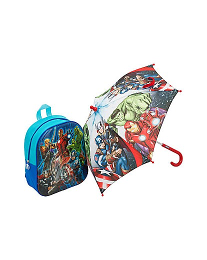 Image of Avengers Backpack and Umbrella Set.