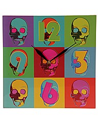 Ted Smith Pop Art Skull Picture Clock