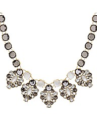 Mood Frosted Stone Set Collar Necklace