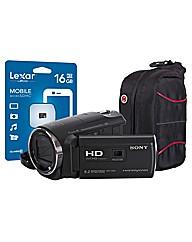 Sony HDR-PJ620 Black Camcorder Kit