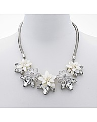 Mood Shell Effect Floral Drop Necklace