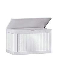 Shaker Blanket Box - White