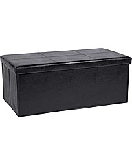 Extra Large Leather Effect Ottoman