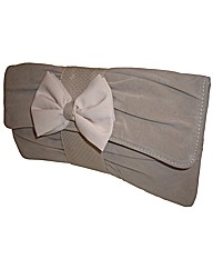 VT Collection Bow Trim Clutch Bag
