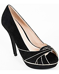 VT Collection Piped Peep Toe Court