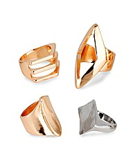 Mood Set Of Four Statement Rings