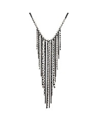 Mood Diamante Crystal Cascade Necklace
