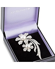 Jon Richard Double Daisy Brooch