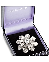 Jon Richard Pave Crystal Flower Brooch