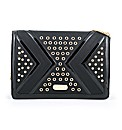 Clearwater studded clutch bag
