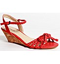 Strawberry Plaited Wedge Sandal