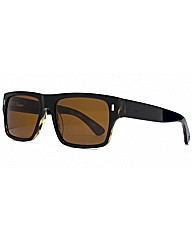 Storm Black Flat Brow Sunglasses