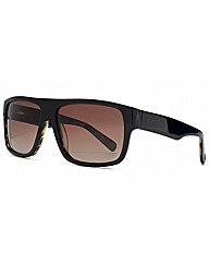Storm Black Large Square Sunglasses