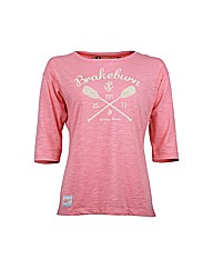 Ladies Paddles Half Sleeve Tee