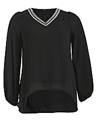 Koko Beaded Neckline Tunic