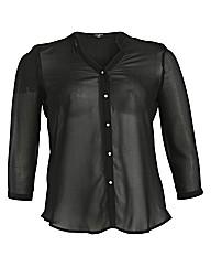Koko Dip Hem Chiffon Shirt