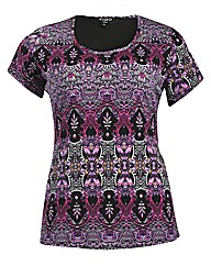Koko Kaleidoscope Print Bow Back Top