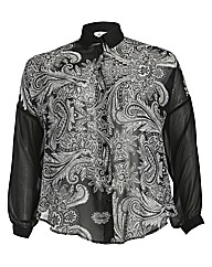 Threads Paisley Print Front Blouse