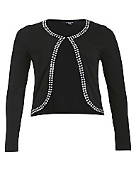 Samya Long Sleeve Beaded Knitted Cardiga
