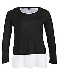 Samya Long SLeeve Overlayed Plain Tops