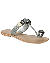 Enzo of Florence Logan Toe Loop Sandal