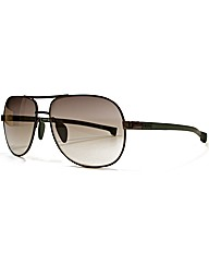 Lacoste Rubber Arm Aviator Sunglasses