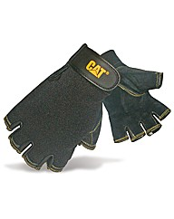 Caterpillar Pig Skin Fingerless Gloves