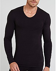Thermal Long Sleeve Curve Neck Top
