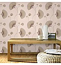 Graham & Brown Charm Chocolate Wallpaper
