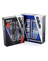 Gillette Fusion Razor and Series Set Duo