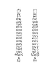 Jon Richard Diamante Twist Drop Earring