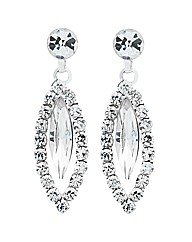 Jon Richard Diamante Navette Earring