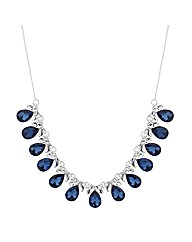 Jon Richard Crystal Peardrop Necklace