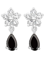 Jon Richard Jet Crystal Flower Earring